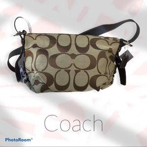 Coach Signature Khaki East West Duffle Bag